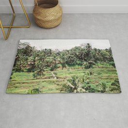 Tegalalang Rice fields near Ubud Bali, Indonesia | Travel film photography wall art Rug