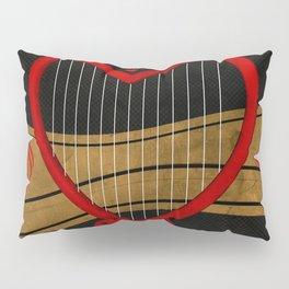 Heart harp Pillow Sham