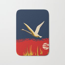 Ambition or trumpeter swan Bath Mat