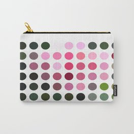 Pink Roses in Anzures 6 Dots Carry-All Pouch