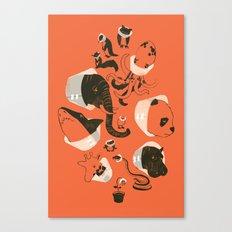 Cones of Shame (orange) Canvas Print
