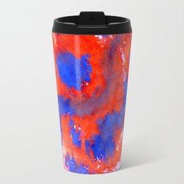 Red Blue Background Travel Mug
