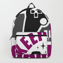 Keep Calm and Game On Backpack