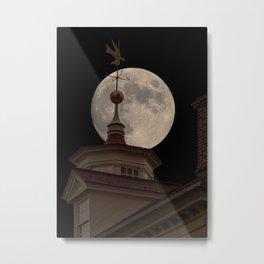 Moon Over Mount Vernon Metal Print