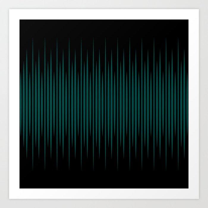 Linear Emerald Black Kunstdrucke