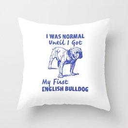English Bulldog Dad, English Bulldog Gift Throw Pillow