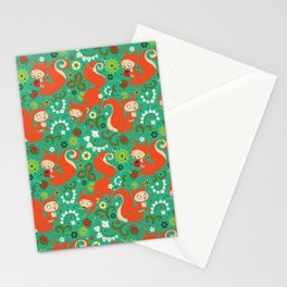 Nutty Squirrel Pattern Stationery Cards