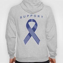 Blue Awareness Ribbon Hoody