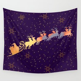I dream of Santa Claus | Christmas Vision Wall Tapestry