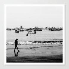 MUCHA CHANCLETA :  Fishers town 2/4 Canvas Print