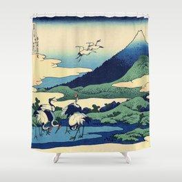 Hokusai -36 views of the Fuji  14 Umezawa in Sagami province Shower Curtain