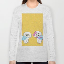 Bichon Frise Holidays yellow cute dogs, Christmas gift, holiday gift, birthday gift, dog, Bijon Long Sleeve T-shirt