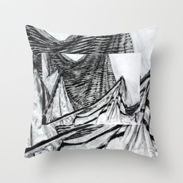 Double Drapery Drawing Throw Pillow