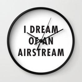 I Dream of an Airstream Wall Clock