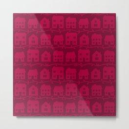 Cottage Charm in Raspberry Pink Metal Print