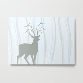 Deer Illustration Metal Print