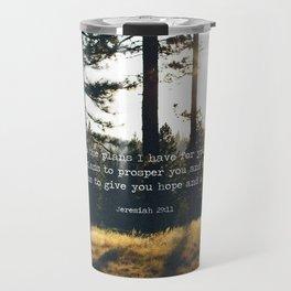 Golden Jeremiah 29:11 Travel Mug