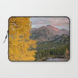ROCKY MOUNTAIN AUTUMN COLORADO NATIONAL PARK BEAR LAKE LANDSCAPE Laptop Sleeve