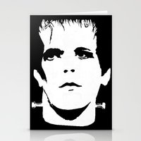 lou reed Stationery Cards featuring Lou Reed Reanimated  by Spirit Monster