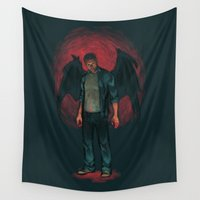 dean winchester Wall Tapestries featuring Dean Winchester. Demon by Armellin