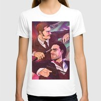 johnlock T-shirts featuring Watson and Holmes by Krusca