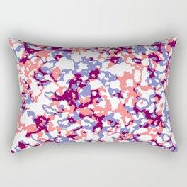 broken, red and blue Rectangular Pillow