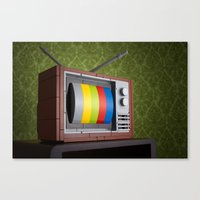 springsteen Canvas Prints featuring 57 Channels and Nothing On by powerpig