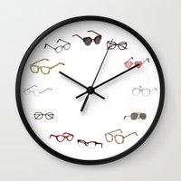 glasses Wall Clocks featuring glasses by Janaína Esmeraldo