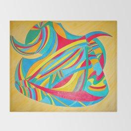 Cheerful triangle Throw Blanket