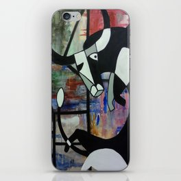 Contorted Bull iPhone Skin