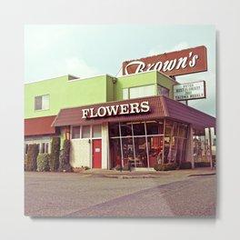 Nostalgic flower shop Metal Print