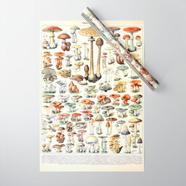 Adolphe Millot - Champignons B - French vintage poster Wrapping Paper