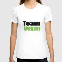 vegan T-shirts featuring Team Vegan  by Michael P. Moriarty