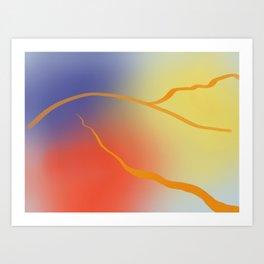 Amber Hills Art Print