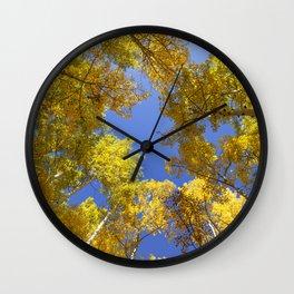Golden Hour in Aspen Colorado / Maroon Bells Wall Clock