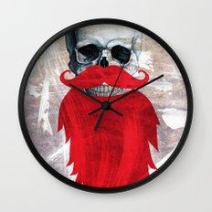 Beard Skull Wall Clock