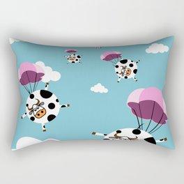 flying cows Rectangular Pillow