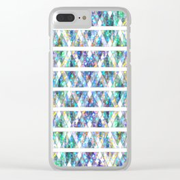 Geometric Glossy Pattern G331 Clear iPhone Case