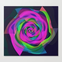 arya Canvas Prints featuring Spiral Colourful Design by Hinal Arya