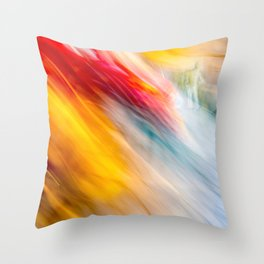 Swallowed by a destiny of rebirth Throw Pillow