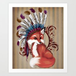 The Fox Chief Art Print