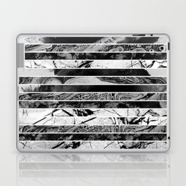Black And White Layered Collage - Textured, mixed media Laptop & iPad Skin
