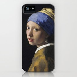 Johannes Vermeer - The girl with a pearl earring iPhone Case