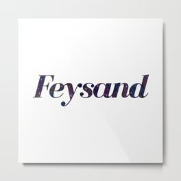 Feysand galaxy design white Metal Print