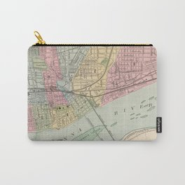 Vintage Map of Harrisburg PA (1890) Carry-All Pouch