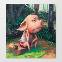 Sufferer Pig Canvas Print