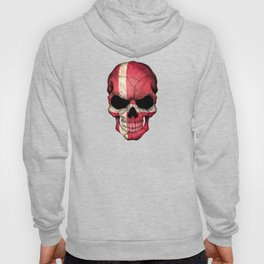 Dark Skull with Flag of Denmark Hoody