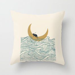 Good Night Meow 1 Throw Pillow