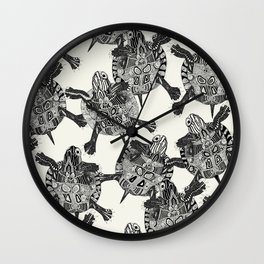 turtle party Wall Clock