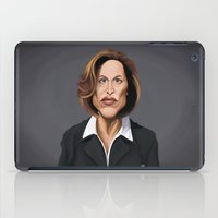 wes anderson iPad Cases featuring Celebrity Sunday ~ Gillian Anderson by rob art | illustration